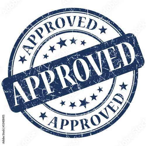 approved blue stamp