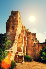 sun ancient ruins