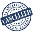 cancelled blue stamp