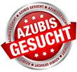 "Button Banner ""Azubis gesucht"" rot/silber"
