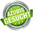 """Button Banner """"Azubis gesucht"""" grün/silber"""