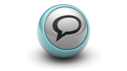 Chat icon on ball. Looping.