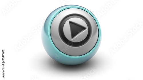 Play icon on ball. Looping.