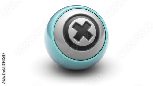 Error icon on ball. Looping.