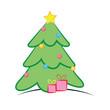 Sapin de Noël-flat design