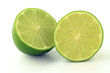 Lime on the white background