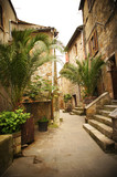 Narrow Alley With Old Buildings In Typical Italian Medieval Town - 53412455