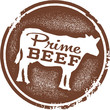 Prime Beef Butcher Shop Stamp