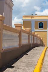 Old fence along street in Old San Juan