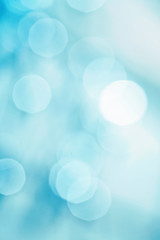 brightly blue bokeh