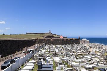 view of Santa Maria Magdalena de Pazzis colonial era cemetery l