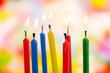 Sieben Geburtstagskerzen