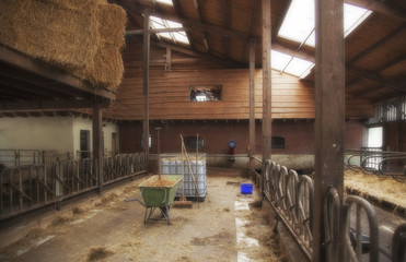 empty farm barn