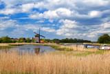 windmill over blue sky in Alkmaar