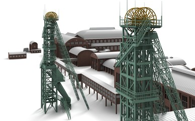 Ruhr colliery mine for coal in the Industrial Age
