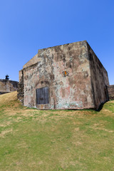 An Old building at El Morro fort and Lighthouse