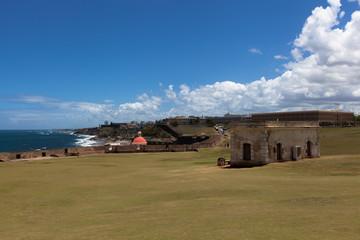 El Morro fortifications in foreground , Old San Juan in backgrou
