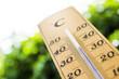 Leinwanddruck Bild - thermometer