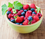 Bowl with fresh berries.