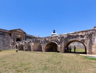 Guards seek shade in El Morro Fort,  Old San Juan