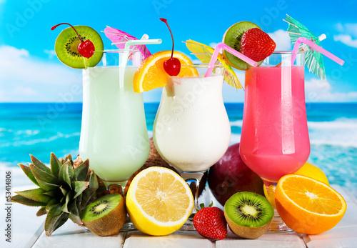 Fototapety, obrazy : fruits cocktails
