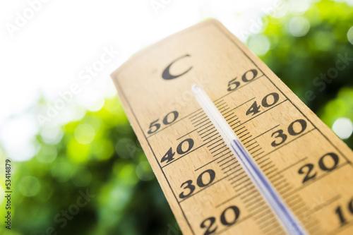 Leinwanddruck Bild thermometer