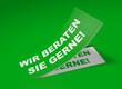 3D Etikett Grün - Wir beraten Sie gerne!