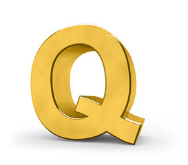 Letter in gold - Q