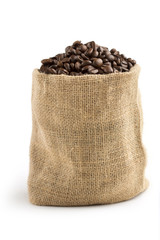jute bag full of coffee beans