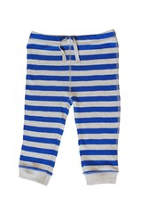 baby striped trousers on white background