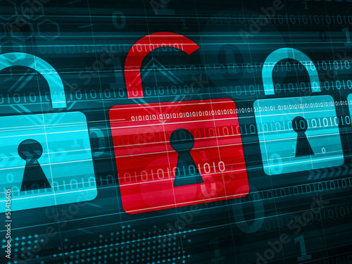 Cyber Security concept  - technology abstract background