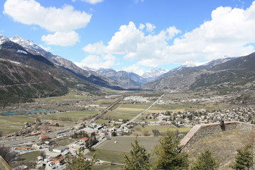 View of Durance Valley ( Mont Dauphin France )