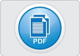 pdf glossy web icon button