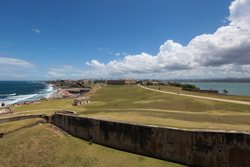 El Morrow fort, Old San Juan in background