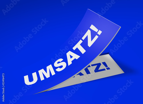 3D Etikett Blau - Umsatz!