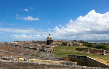 Old San Juan viewed from El Morrow high walls
