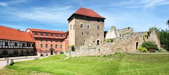 Wasserburg Kapellendorf Innenansicht Panorama