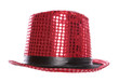 red sequin stage show top hat