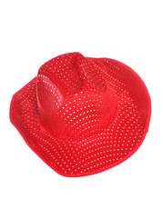 red cowboy fancy dress hat