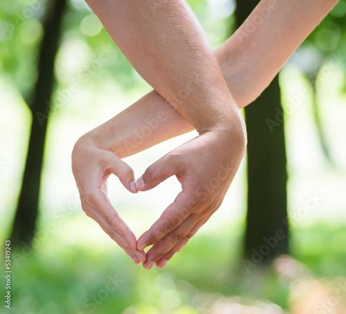 shape hands