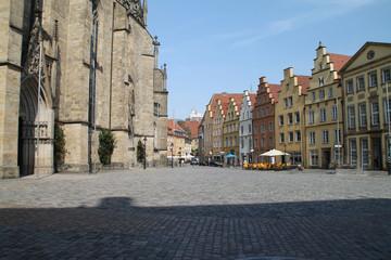 Der Rathausplatz in Osnabrück