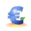 Solar Panel - euro symbol
