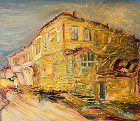 Old Bulgarian House in Golden Colors