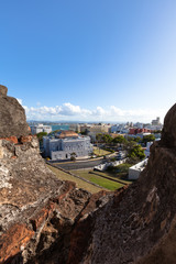 Old town viewed from Castillo San Cristobal in Old San Juan