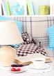 Close up on trendy modern living room