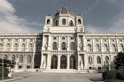 Kunsthistorisches Museum in Vienna - sepia image
