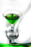 Glass of absinthe poster