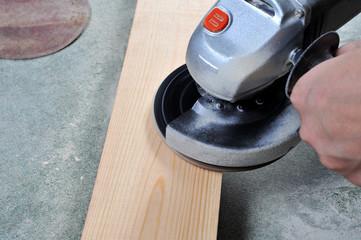 grinding wood
