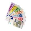 Leinwanddruck Bild - Geldfächer