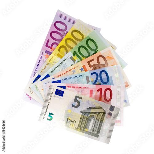 Leinwanddruck Bild Geldfächer